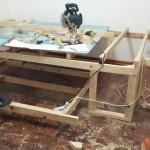 6-constructia scheletului din lemn pentru patul glisant de sub platforma