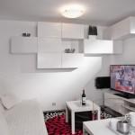 6-corpuri modulare albe perete living minuscul casa modulara Model M