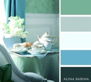 6-decor compus din nuante de bleu si verde