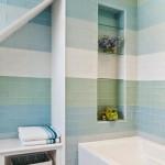 6-decor cu dungi orizontale multicolore late faianta baie