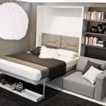 6-deschidere pat rabatabil intgrat in mobila de living