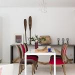 6-dining cu scaune tapitate colorate decor living open space vila de lux