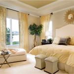 6-dormitor crem cu accente galben pal amenajat conform regulilor Feng Shui
