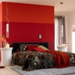 6-dormitor modern decorat in alb negru gri si mult rosu