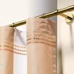 6-draperie din otel cu aspect auriu pentru perdele