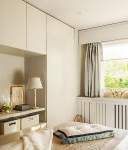 6-dulapuri proiectate la comanda dormitor matrimonial decorat in tonuri de crem si bej