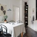 6-etajera pentru carti de gatit decoratiuni si alte maruntisuri montata in coltul din bucatarie