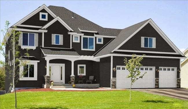 6-exemplu casa cu acoperis si pereti exteriori gri petrol si cornisa cu tamplarie exterioara albe