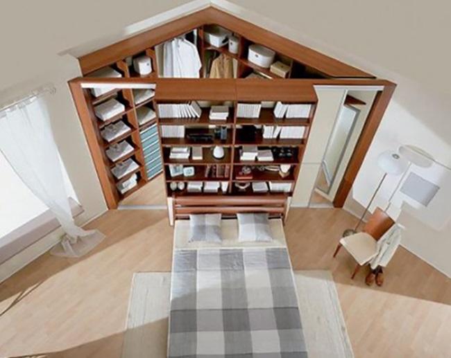 6-exemplu proiectare dressing spatios in coltul unui dormitor mare