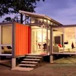Containerele sperantei – o casa spectaculoasa construita din doua containere maritime
