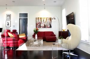6-fotoliu alb decor living modern pereti de culoare alba