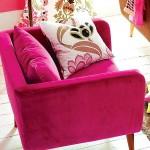 6-fotoliu culoare fuchsia pentru living retro colorat