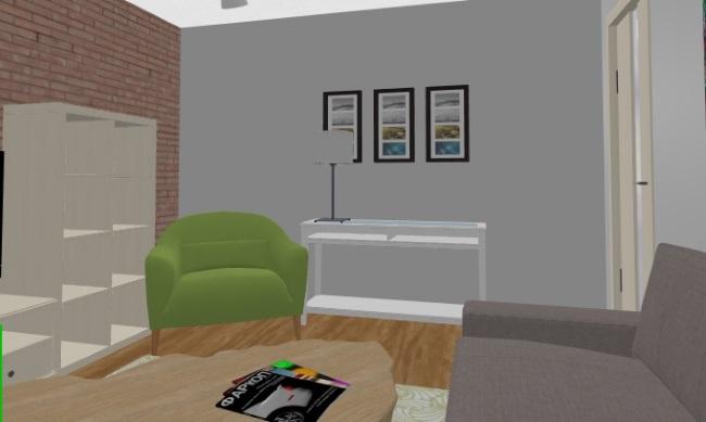 6-fotoliu si consola cu veioza colt living modern apartament 3 camere