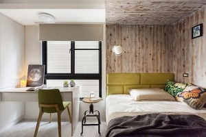 6-idee amenajare dormitor apartament cu birou langa pat