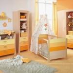 6-idei amenajare camera bebe gri deschis galben bej si portocaliu
