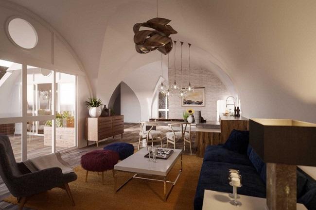 6-interior casa prefanricata acoperita de pamant Green Magic Homes