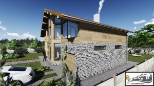 6 - lateral piatra naturala casa parter etaj 258 mp