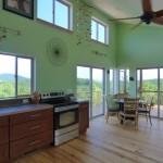 6-latura bucatarie open space parter casa mica 65 mp din lemn