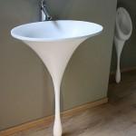 6-lavoar baie cu picior in forma de picatura design philip watt