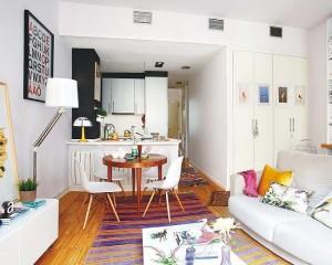 6-living cu bucatarie open space apartament tineresc