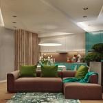 6-living decorat in alb turcoaz maro si vernil