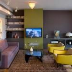6-living modern accente retro decorat in gri si verde olive masliniu