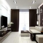 6-living modern minimalist decorat in alb si negru cu pardoseala alba