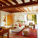 6-living rustic interior fost hambar din piatra transformat in casa