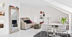 6-living si dining open space apartament mic 2 camere mansarda