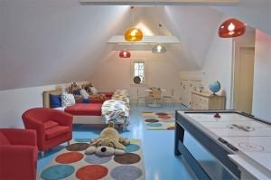 6-loc de joaca si dormitor pentru copii amenajate in mansarda