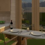 6-loc de luat masa casa mica 15 mp bucatarie cu masa rabatabila