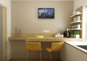 6-loc de luat masa decor bucatarie moderna mica de 6 mp