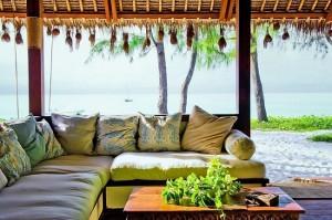 6-loc de luat masa exterior casa de vacanta de pe insula Vamizi Africa