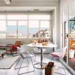 6-loc de luat masa langa terasa apartamentului modern industrial