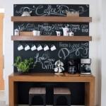6-loc mic dejun bucatarie design modern cu polite pe perete vopsit cu vopsea de creta