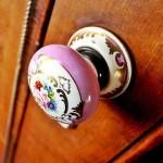 6-maner tip buton din ceramica pictata accesorii mobilier