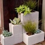 6-mic aranjament decorativ pentru flori de balcon din boltari din beton prefabricati