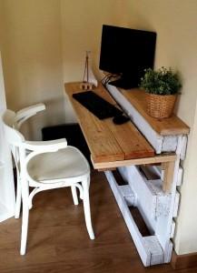 6-mini birou handmade confectionat dintr-un palet de lemn