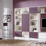 6-mobila alba pereti mov decor living modern