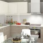 6-mobila furnir lemn cu alb model pentru bucatarie mica apartament