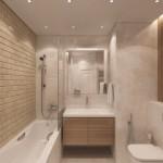 6-model amenajare baie moderna caramida aparenta gresie si faianta pastel