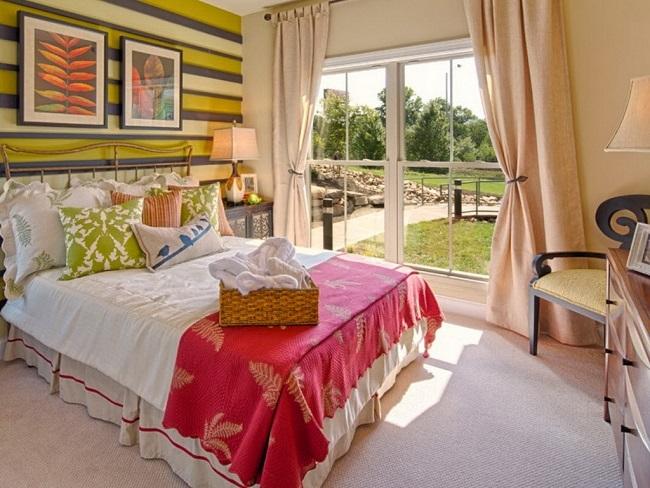 6-model dormitor mic 12 mp cu decor colorat