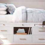 6-model pat de o persoana pe platforma inalta cu multe sertare integrate