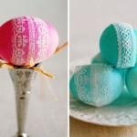 6-oua de paste decorate cu dantela