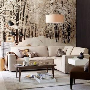 6-padure iarna foto tapet decorativ living modern