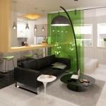 6-paravan despartitor sticla separare dormitor de living garsoniera moderna open space