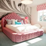 6-pat matrimonial cu tapiterie din stofa roz