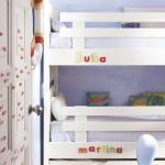 6-paturi albe supraetajate camera copii apartament mic 47 mp