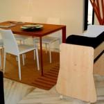 6-patut Culla Belly montat pe suport din lemn