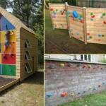 6-perete de escalada distractie pentru copii in curtea casei